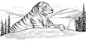 Smilodon by Scravagghiupilusu959
