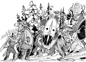 Olanthi fighting Trolls by Scravagghiupilusu959