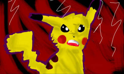 Bad Pikachu by Pencilshy1