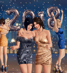 Happy New Year 2018 !! by Leo-25