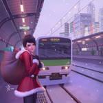 Umi the cute Santa by Leo-25