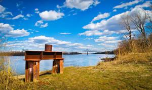 Missouri River View Panorama by SpAzZnaticShuRIken
