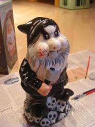 Black Metal Garden Gnome by SallyNevermore