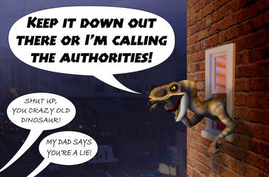 The Rage of the Dinosaur by CeeEmmDee