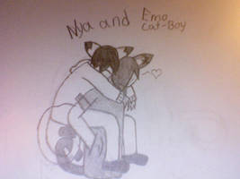 Nya and Emo cat-boy by Storm-furry