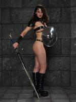 fantasy warrior by ghosttrin