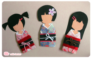 Paper Kimono Dolls by Cubic-Factory