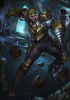 Steampunk Warrior by zeander