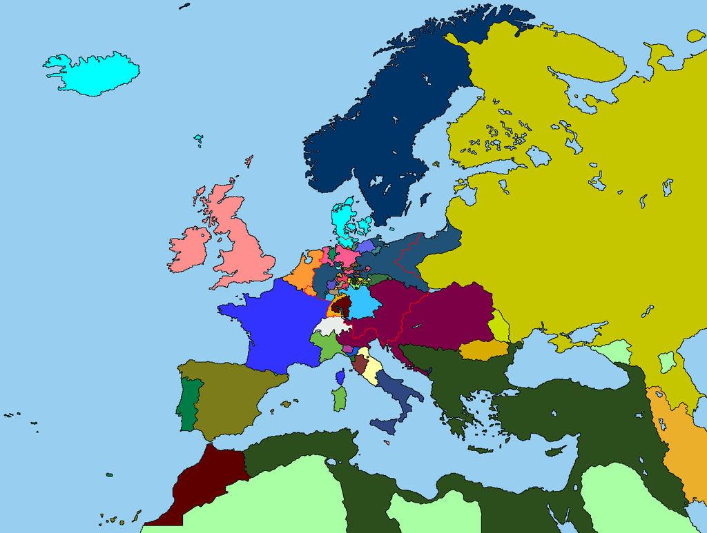 Colored Map of Europe in 1815 by TKAFan02 on DeviantArt