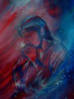 Jesus Christ Praying by Oscarliima