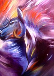 psychedelic horse by Oscarliima