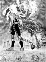 Ikki Fenix in queen of death by Oscarliima