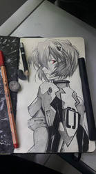 Drawing Completed - Rei Ayanami (Evangelion) by Oscarliima