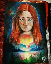 Redheaded Girl by Oscarliima