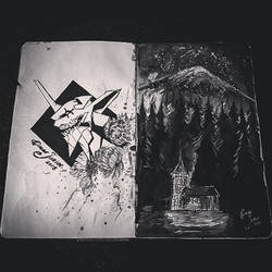 Drawing in notebook by Oscarliima