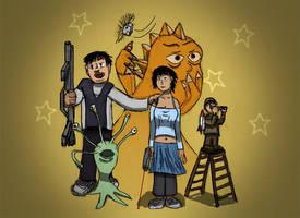 The rescue team of Nebula III by weirdMushroom