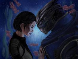 ME Shepard and Garrus by Faietiya