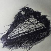 Inktober day 25 Ship by Faietiya