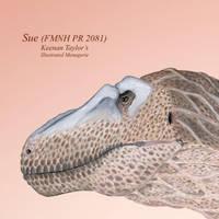 Sue (Tyrannosaurus rex female) by IllustratedMenagerie