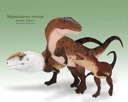 Mapusaurus Family by IllustratedMenagerie