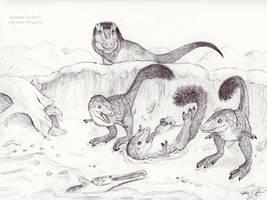 Tyrannosaurus rex Exploration by IllustratedMenagerie