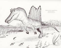 Dr. Henderson's Spinosaurus aegyptiacus by IllustratedMenagerie