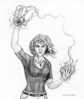 Inktober Day 4: Spell by IllustratedMenagerie