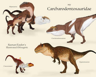 My Carcharodontosauridae by IllustratedMenagerie