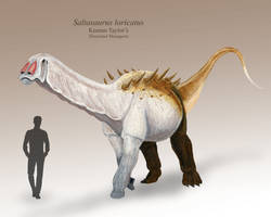 Saltasaurus by IllustratedMenagerie