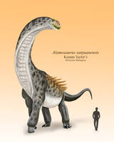Alamosaurus by IllustratedMenagerie