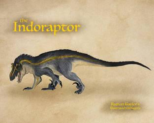 Indoraptor by IllustratedMenagerie