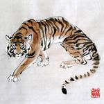 Tiger, tiger burning bright by toedeledoki