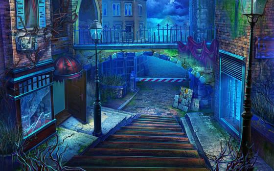 Dark street by julijuly