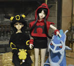 Team Magma Alisa and Chase Umbreon by ShelandryStudio