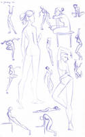 Figure Study Sketches (Female) by kuabci