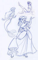 THREE Lil' Ariels by kuabci
