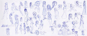 Sketchbook Ladies Splat by kuabci