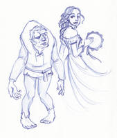 Disney Un-Disneyed:  Quasimodo and Esmeralda by kuabci