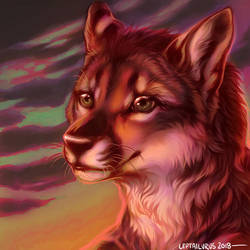 [portrait icon] for wolfwings by leptailurus-serval