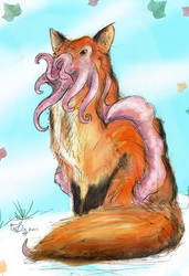 Mutant Zoo - CuttleFox by stuntedsanity