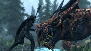 Nightingale VS Ancient Dragon by AydenSnow