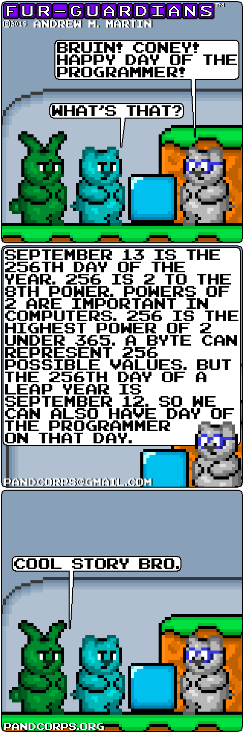 Furry Funny, Day of the Programmer by pandcorps