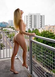 Olivia Preston on a Hotel Balcony 26 by Jim52-Photoworks