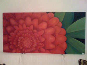 Red Flower Painting by esunasoul