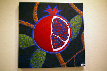 Pomegranate Painting by esunasoul