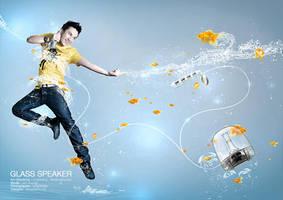Lam Truong - Glass Speaker by versacephuong