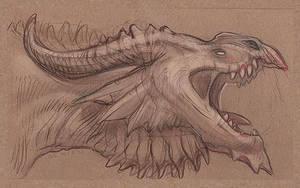 Flight Rising Plague Dragon Sketch by Ibexien