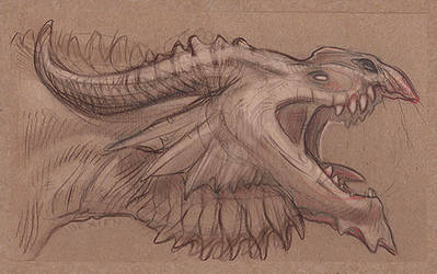 Flight Rising Plague Dragon Sketch by Ibexien