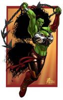 Female Orc Color by artbytravis