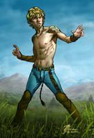 Loren, Elven Martial Artist by artbytravis